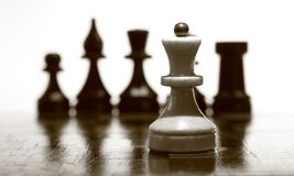 Drewniany chessboard Zdjęcie Stock