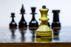 Drewniany chessboard Zdjęcie Royalty Free