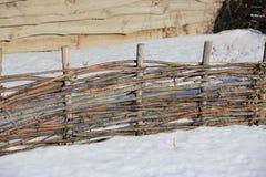Drewniany chrustowy ogrodzenie Zdjęcia Stock