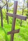 Drewniany chrześcijaństwo krzyż obraz stock