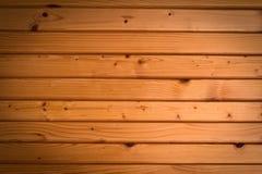 Drewniany ścienny tło w ranku świetle Obrazy Stock