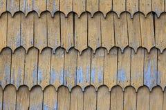 Drewniany clapboard dachu tekstury wzoru tło Zdjęcia Stock