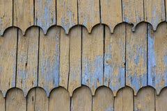 Drewniany clapboard dachu tekstury wzoru tło Zdjęcie Stock