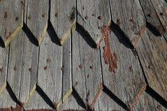 Drewniany clapboard dachu tekstury wzoru tło Fotografia Stock