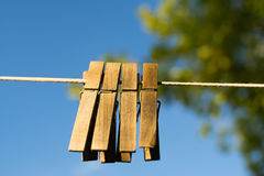 Drewniany clothespin Obrazy Royalty Free