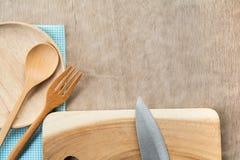 Drewniany cookware set N?? obrazy stock