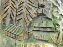 Drewniany cyzelowanie Obraz Royalty Free