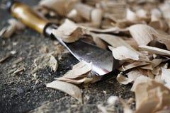 Drewniany cyzelowanie obraz stock