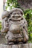 Drewniany cyzelowanie Ebisu, Japoński bóg szczęście Fotografia Stock