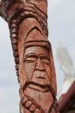 Drewniany cyzelowanie przy Lifou Zdjęcie Stock