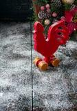 Drewniany czerwony kogut Fotografia Stock
