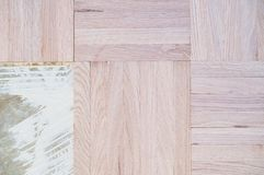 Drewniany dębowy parkietowy fotografia royalty free