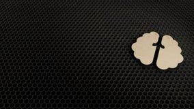drewniany 3d symbol m??d?kowa ikona odp?aca si? royalty ilustracja