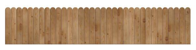 Drewniany długi ogrodzenie Obrazy Stock