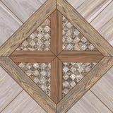 Drewniany dachówkowej podłoga tekstury tło Zdjęcie Stock