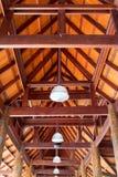 Drewniany dach obraz stock