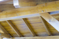 Drewniany dach Fotografia Stock