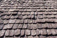 Drewniany dach tekstury tło Obraz Royalty Free
