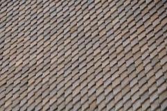 Drewniany dachowy gont Obrazy Royalty Free