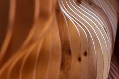 Drewniany dekoracyjny wewnętrzny koniec obrazy stock