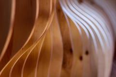 Drewniany dekoracyjny wewnętrzny koniec obraz stock