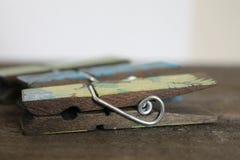 Drewniany dekorujący clothespin Fotografia Royalty Free