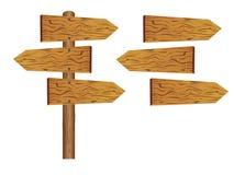 drewniany deska pusty znak Zdjęcia Stock