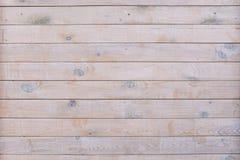 Drewniany deski ogrodzenie horyzontalne płaskie deski tekstury drewno Pusta drewniana ?ciana Szablon dla projekta fotografia royalty free