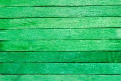 Drewniany deski zieleni tło Obrazy Stock