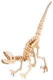 Drewniany dinosaur obraz royalty free