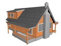 Drewniany dom fotografia stock