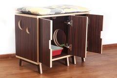Drewniany dom dla kotów Obraz Stock