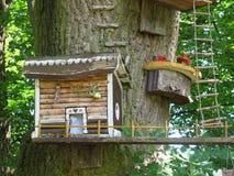 Drewniany dom elfy fotografia stock