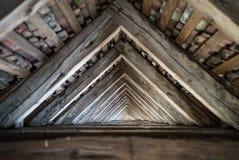 Drewniany dom kratownicowy zdjęcia royalty free