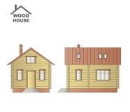 Drewniany dom na białym tle Obraz Royalty Free