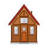 Drewniany dom na wsi wektor Obrazy Royalty Free