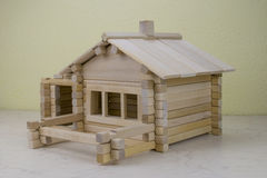 Drewniany dom od children projektanta Zdjęcia Royalty Free