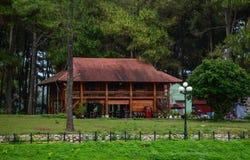 Drewniany dom przy lasem Obraz Stock