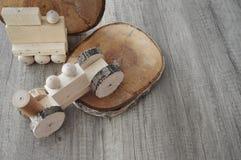 Drewniany dom robić zabawka fotografia stock