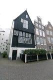 Drewniany dom w begijnhof w Amsterdam Zdjęcia Stock
