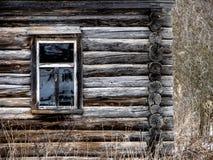 Drewniany dom w Rosyjskiej wiosce fotografia stock