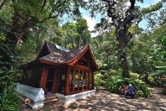 Drewniany dom w Royal Palace, Chiangmai Fotografia Royalty Free