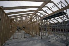 Drewniany domowy kościec Zdjęcia Stock
