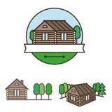 Drewniany Domowy logo Zdjęcie Royalty Free