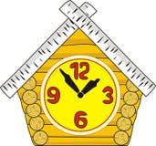 drewniany domowy mały zegarek Zdjęcia Stock