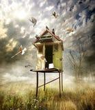 Drewniany dovecote zdjęcie royalty free