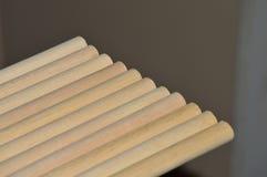 Drewniany dowels zakończenie zdjęcia stock