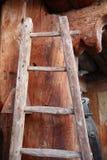 drewniany drabinowy krok fotografia royalty free