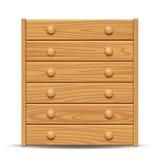 Drewniany dresser royalty ilustracja
