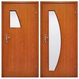 Drewniany drzwi 03 Obrazy Royalty Free